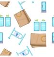 Shop pattern cartoon style vector image
