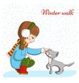 Winter walk vector image