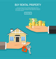 buy rent real estate vector image vector image