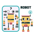 robot character design vector image