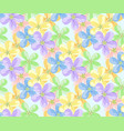 flower icons for seamless pattern vector image vector image