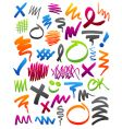 marker scribbles vector image vector image