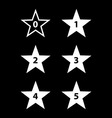 Stars rating vector image vector image