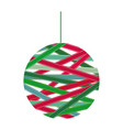 christmas garland with colorful tape around vector image