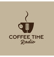 coffee time radio vector image