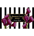 elegant luxury business card with calla flowers vector image