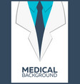 medical poster concept background flat design vector image