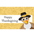postcard with turkey for thanksgiving day vector image