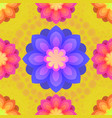 seamless pattern with mandalas flowers vintage vector image