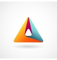 Triangle abstract logo vector image