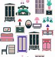 vintage bedroom set furniture vector image
