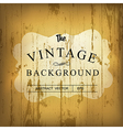 wooden vintage background vector image