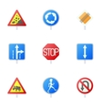 Sign icons set cartoon style vector image