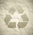 Recycled crumpled paper vector image