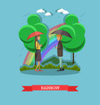 rainbow concept in flat style vector image