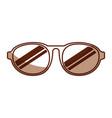 cute shadow sunglasses cartoon vector image