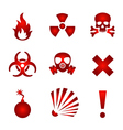 Red warning icons vector image