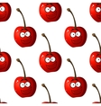 Seamless pattern of cartoon cherries vector image