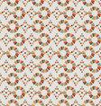 seamless pattern of circles diamonds retro vector image