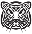 Artistic tiger design vector image vector image