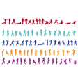 100 silhouettes vector image