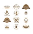 bakery badge logo vector image vector image