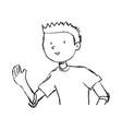 boy doodle draw vector image