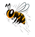 cartoon bee on a white background vector image