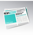 folded business newspaper images articles vector image