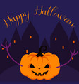 happy halloween spooky pumpkin greeting card vector image