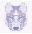 Pink lined low poly wolf vector image