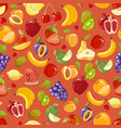 scattered fruits summer seamless pattern vector image