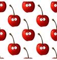 Seamless pattern of cartoon cherries vector image