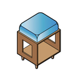 short stool chair vector image