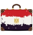 suitcase with a Egyptian flag vector image