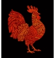 Red rooster cock symbol of hinese New Year 2017 vector image