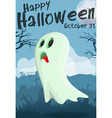 Halloween cartoon ghost vector image
