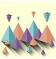 Modern abstract pyramid vector image