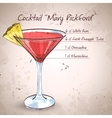 Cocktail Mary Pickford vector image