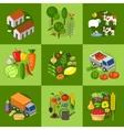 Big set of farmer elements vector image