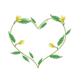 Yellow Magnolia Blossoms in A Heart Shape vector image vector image