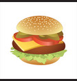 classic cheeseburger vector image