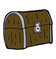 comic cartoon treasure chest vector image