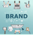 creative of business brand vector image