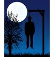 Dead body on gallows vector image