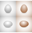 Icons egg vector image
