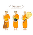 thai monks collections vector image