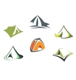 Travel and adventure camp tents vector image