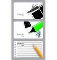 set of modern beautiful business cards vector image vector image