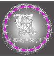 christmas holiday light lantern vector image